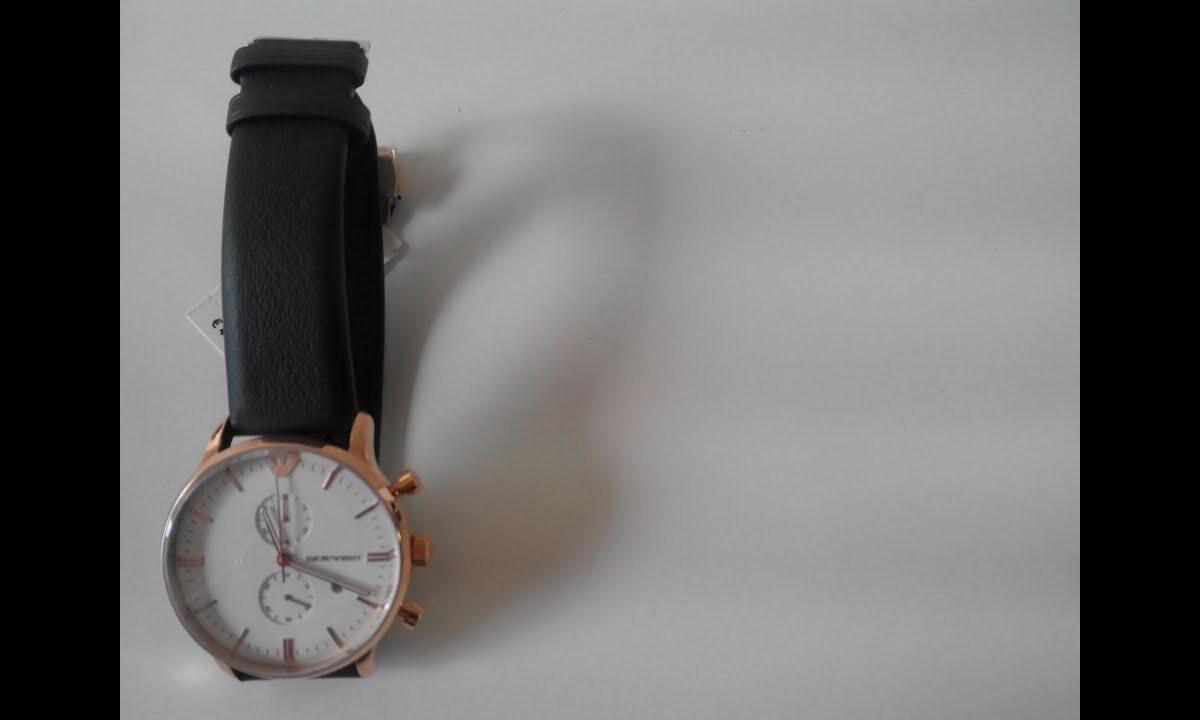 Cronografo Emporio Armani con cinturino pelle nappa