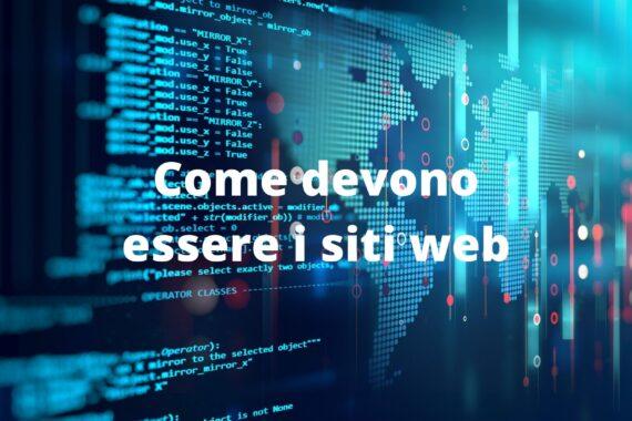 Come devono essere i siti web