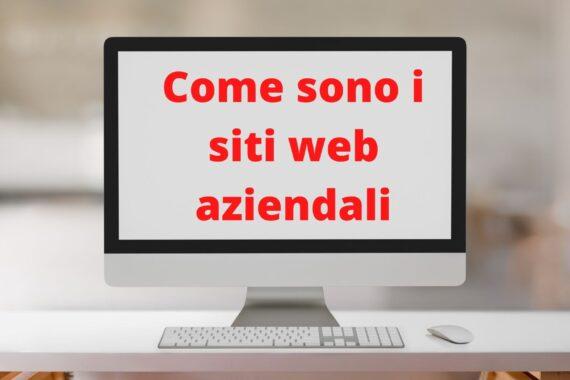 Come sono i siti web aziendali?