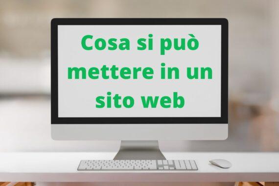 Cosa si può mettere in un sito web